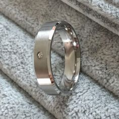 High Quality Polished CZ 6mm Stainless Steel Rings For Men Women Jewelry #Khunlak #Trendy