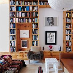 Like the spaces between, and the bookshelves