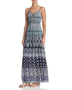 184082ef06e Aqua Batik Print Maxi Dress - 100% Exclusive - perfect for vacation Batik  Dress