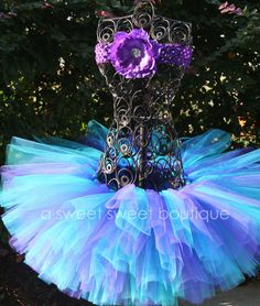 Butterfly Kiss Tutu in purple and teal by A Sweet Sweet Boutique (via Etsy)
