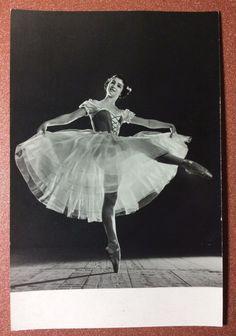 Vintage USSR Russian photo postcard 1968 Russian ballet Maximova ballet Giselle