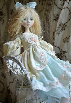 Купить Авторская кукла Мятное утро - мятный, авторская ручная работа, авторская кукла