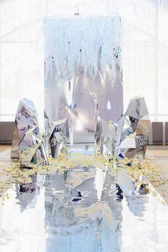 Mirrored wedding aisle