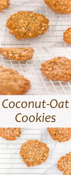 Coconut Oat Cookies: super yummy simple little cookies that are easy to make. I like to keep the dough in my freezer so I always have a cookie fix when I need it!