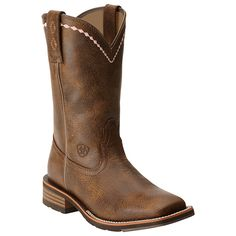 Ariat Women's Unbridled Wide Square Toe Roper Boots - My first pair of work boots!  :-)