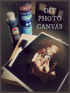 Turn Dollar Store art into DIY Photo Canvas in this quick and easy tutorial - using printed canvas or blank cradle board, it is easy to make an at home photo gallery memorable!