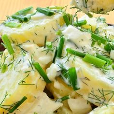 Roasted Potatoes With Sour Cream Herb Sauce