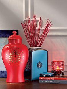 Shanghai Tang    Lotus round jar with lid  Lotus square jar with lid  Lattice candle holder  8R Lotus photo frame