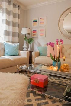 Novel Small Living Room Design and Decor Ideas that Aren't Cramped - Di Home Design Living Room Color Schemes, Living Room Colors, Home Living Room, Apartment Living, Living Room Decor, Living Area, Girls Apartment, Apartment Ideas, Decoration Inspiration