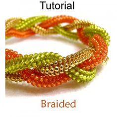 *P Braided Herringbone Bracelet PDF Beading Pattern