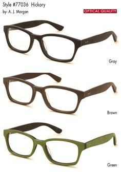 5f80fae55be Hickory  AJ Morgan Eyewear - Fashion Eyewear - Designer Reading Glasses -  Reading Glasses