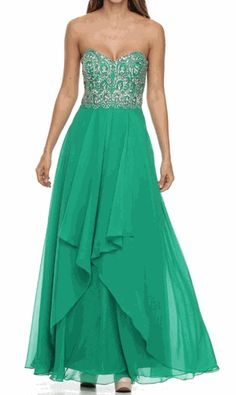 CLEARANCE SALE!  A PERFECT DRESS FOR PROM, AVAILABLE IN CORAL - XL, ONLY SHOWN IN EMERALD GREEN. 1PC. ONLY #promdress #straplessdress #saledresses #discountdress