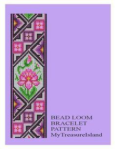 Grano de telar antiguo adorno 2 pulsera patrón por MyTreasureIsland