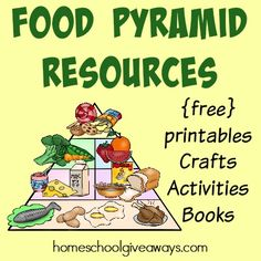 Kids will love learning about the Food Pyramid and getting healthy with these great resources! Includes {free} printables, crafts, activities and books. :: homeschoolgiveaways.com
