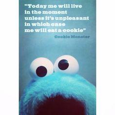 Wise words from the Cookie Monster. #RainyDayCookie #StrangeBrewBakes