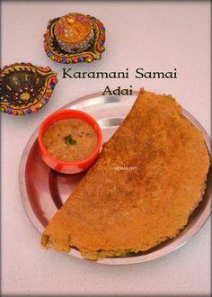Sprouted Karamani Samai Adai/ Red Cowpeas millet adai  http://www.upala.net/2016/04/sprouted-karamani-samai-adai-red.html