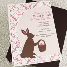 Free Vintage Easter Invitation Template  Download  Print  Free