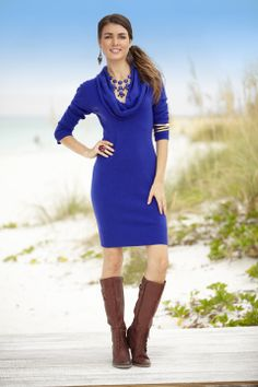 Fall Fashion: A bold sweater dress #beallsflorida