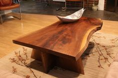 handcrafted live edge walnut table by hannahgreeley on Etsy, $2500.00