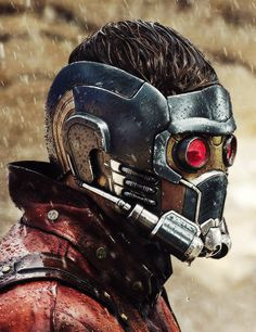 Chris Pratt as Star-Lord on the first day of shooting Guardians...