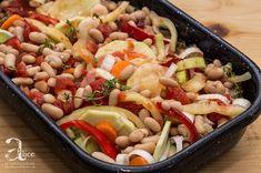 Mancare de fasole alba si legume la cuptor Pasta Salad, Ethnic Recipes, Food, Crab Pasta Salad, Essen, Meals, Yemek, Eten