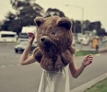 Inspiring picture awesome, bear, girl, head. Resolution: 500x332 px. Find the picture to your taste!