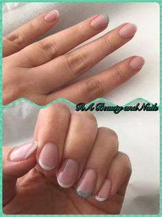 Mini French+art gel nails  Products used: Crystal Nails: Cover pink, builder white, titanium hard gel and caviar beads