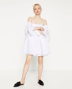 ZARA - COLLECTION AW16 - OFF-THE-SHOULDER DRESS WITH BOW