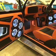 beetle vw oxford car audio edition 38 edition 2014 edition prep orange and black interior Custom Car Interior, Truck Interior, Custom Car Audio, Custom Cars, Vintage Cars, Antique Cars, Jl Audio, Audio Sound, Preppy Car Accessories