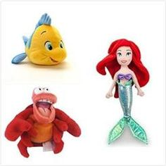 Disney Official Disney Exclusive The Little Mermaid 3 pcs Plush set : 12 Ariel, 10 Flounder, 8 Sebastian the crab. Pool Toys For Kids, Kid Pool, Ariel The Little Mermaid, Disney Girls, Baby Disney, Mermaid Balloons, Disney Plush, Cute Plush