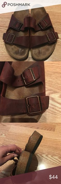 Birkenstock sandals in chocolate brown leather Beautiful brown leather Birkenstock sandals! In great condition!   Bundle and save! Over 300 items in my closet. Birkenstock Shoes Sandals