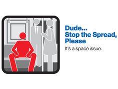 """""""Deja de espatarrarte"""": Campaña en Nueva York contra viajeros que abren las piernas http://es.rt.com/3g9p"""