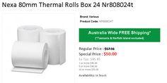 Buy Nexa 80mm Thermal Rolls Box 24 Nr808024t At onlypos Australia