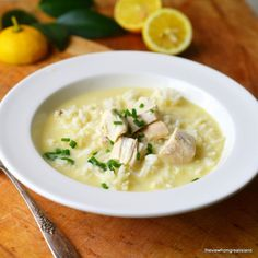 Avgolemono Soup - The View from Great Island - 6 servings, about 1 1/2 cups each - Calories 374, Calories from Fat 64, Total Fat 7.1g, Saturated Fat 2.1g, Cholesterol 123mg, Sodium 586mg, Potassium 368mg, Total Carbohydrates 50.4g, Dietary Fiber 0.9g, Sugars 1.0g, Protein 24.0g