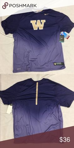 Washington Huskies Nike Dri-Fit New Day Shirt Washington Huskies Nike Dri-Fit New Day Practice Shirt. Save money by bundling with other items in my store. Nike Shirts Tees - Short Sleeve