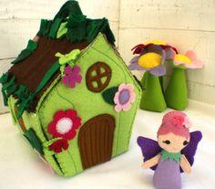 Felt Fairy house (playhouse / dolls house) - by SnugglesandSmiles on madeit