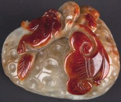 China 20. Jh.- A Chinese Carved Hardstone 'Jade' Pendant - Chinois Giada Cinese
