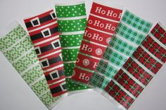 Deck your Erin Condren Life Planner out this holiday season with this Christmas theme washi set.    These pre-cut washi tape sticker strips