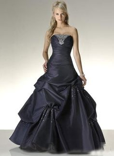 Buy Popular purple a line pick up taffeta some beading on skirt prom dress Online Cheap Prices