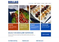 Webové stránky společnosti HOLLAS CATERING