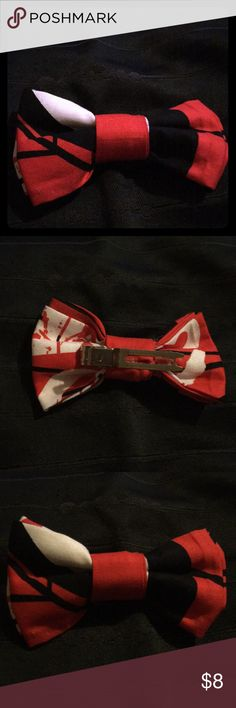 Hand made  Spider-Man clip on bow ties Hand made clip-on bow ties. For children, toddlers. Can also be used as a hair clip.  😊 Accessories