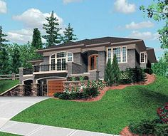 Sloping+Lot+House+Plans | Mirror Reverse plan Right-Reading Reversed surcharge: $100 House plans ...