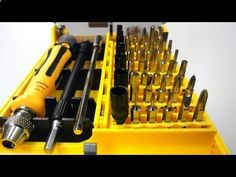 Review Screw Drivers Toolkit for Electronics DIY (45-Piece Set) - Dealextreme DX