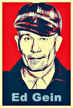 Serial Killer Ed Gein - Obama Style Poster Pop Art.