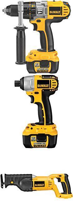 Dewalt Dck475l. DEWALT DCK475L 18-Volt 4-Tool Cordless Combo Kit with NANO Technology.  #dewalt #dck475l #dewaltdck475l Home Tools, Circular Saw, Nanotechnology, Drill Driver, Cordless Drill, Yellow Black, Kit, Cordless Power Drill, Drill