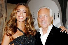 #Atribute to Friends: Giorgio Armani with Beyonce at the 2008 Privé fashion show. More on Armani.com/Atribute