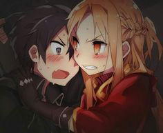Kirito x Asuna, looks like he kinda wants to kill something lol