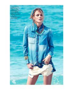 Jeans, Sex & Sun | Shannan Click | Nagi Sakai #photography | Elle France N°3466 1st June 2012
