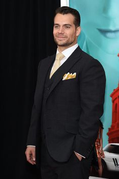 """Actor Henry Cavill attends the New York Premiere of """"The Man From U.N.C.L.E."""" at Ziegfeld Theater on August 10, 2015 in New York City."""