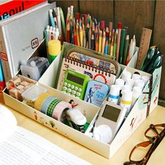 Cosméticos bricolaje papel 9 papel de escritorio caja de almacenamiento de artículos diversos caja de cosméticos acabados